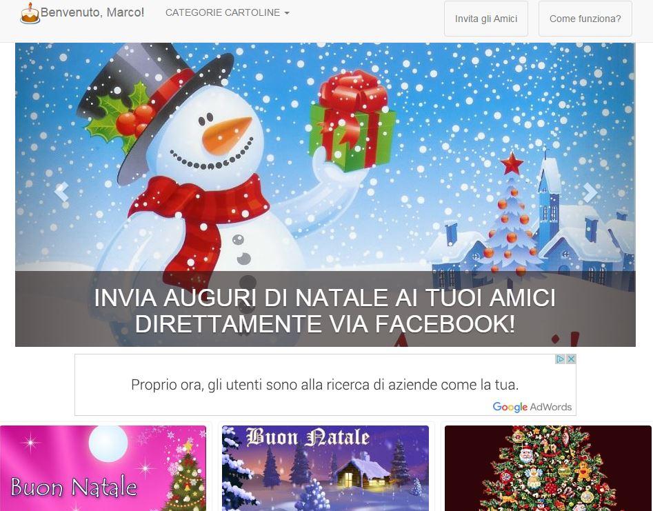 Cartoline Di Auguri Di Natale.Fare Auguri Su Facebook Cartoline Auguri