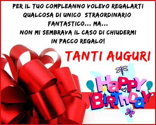 Popolare Buon Compleanno - Cartoline Auguri JU88